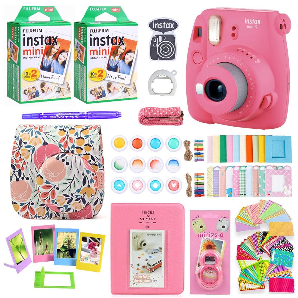 Fujifilm Instax Mini 9 Instant Foto Druck Kamera Mit 40 Blätter Mini Film Papier Kamera Schulter Gurt Tasche Zubehör Bündel