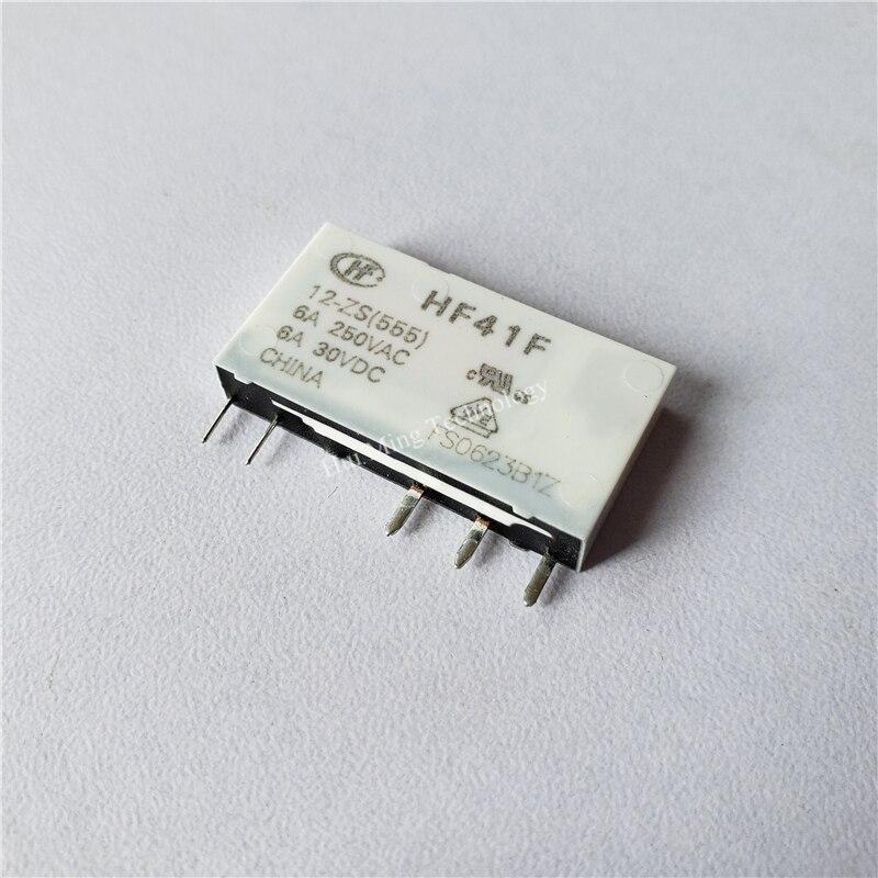 2PCS ORIGINAL HF41F-5-ZS HF41F-005-ZS 5V HONGFA Relay 5PINS