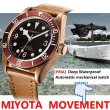 Military-Watch Bronze-Case Miyota Corgeut 41mm Deepwaterproof Sport Luminous Sapphire Glass