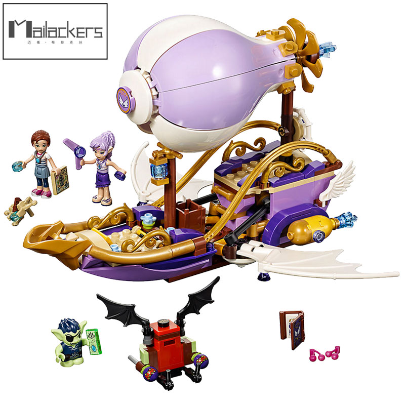 <font><b>10696</b></font> Friends Figures Elves Aira's Airship For Girls Compatible The Amulet Chase Model Building Blocks Toys For Children Gifts image