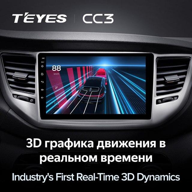 TEYES CC3 Штатная магнитола For Хендай Туксон 3 For Hyundai Tucson 3 2015 - 2018 до 8-ЯДЕР, до 6 + 128ГБ 27EQ + DSP carplay автомагнитола 2 DIN DVD GPS android 10 мультимедиа автомобиля головное устройство 5
