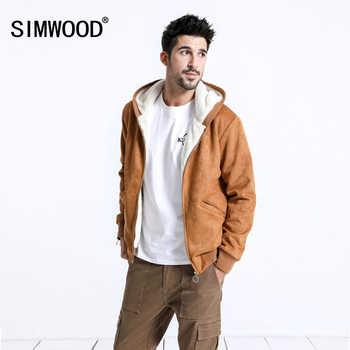 SIMWOOD 2019 Winter Men Jackets Fashion Casual Thick Short Jackets Warm Oxford Hoodie Trucker Coats Outwear Brand Jacket 180605 - DISCOUNT ITEM  49% OFF All Category