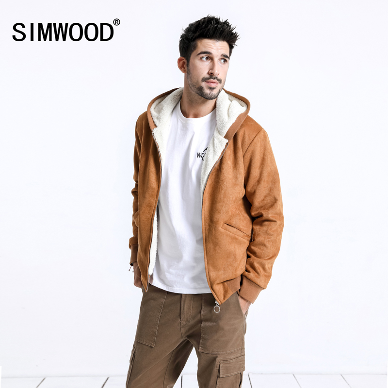 SIMWOOD 2020 Winter Men Jackets Fashion Casual Thick Short Jackets Warm Oxford Hoodie Trucker Coats Outwear Brand Jacket 180605
