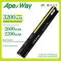 Apexway 4 cells Laptop Battery For Lenovo IdeaPad L12M4E01 L12M4A02 L12S4A02 L12S4E01 G400s G405s G410s G500s G510s S410p Z710