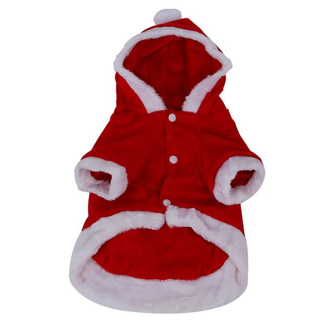 Dog Costumes Christmas Angel Wing Dog Coat Santa Suit Fancy Pet Gift - Red(S)