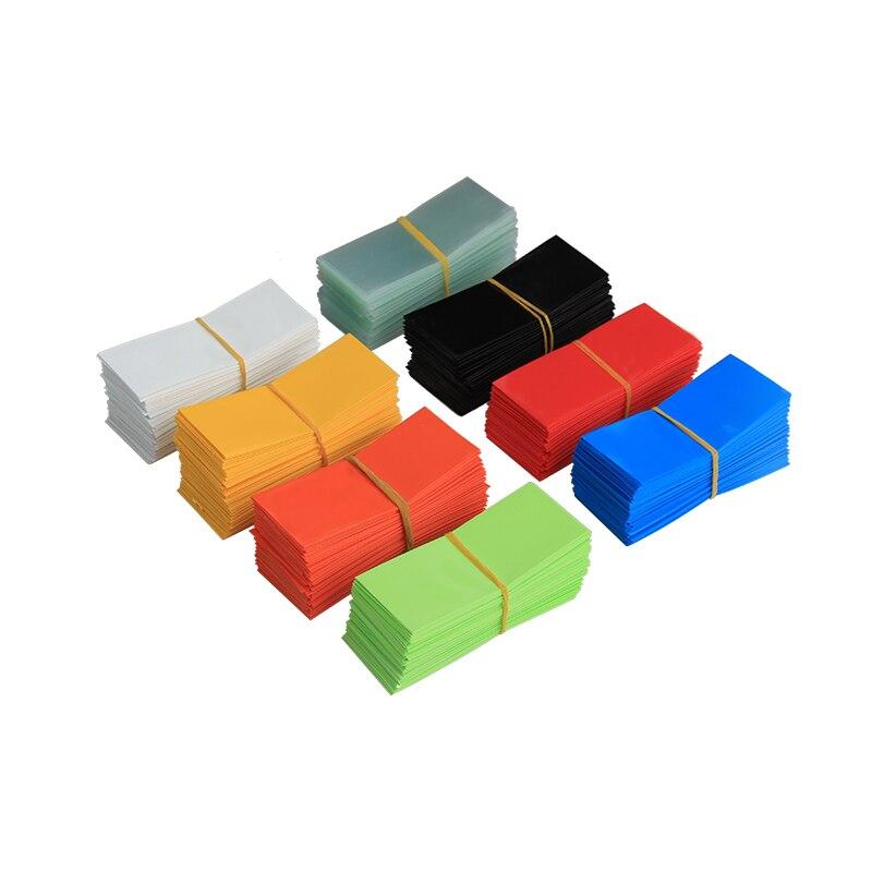 100 PCS Li-ion PVC Heat Shrink Tubing 18650 Battery Wrap Precut Size 18.5mm Battery Film Tape Battery Cover 8 Color