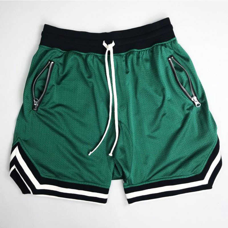 Basketbal sport vijf shorts zwart rood geel groen Anti-pilling ademend sneldrogend losse Fitness basketbal vijf shorts