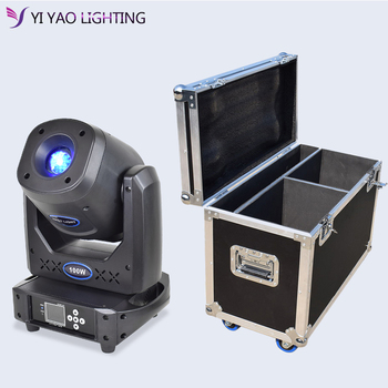 Flight Case 2in1 Spot 100w With 5 Face Prism And Electronic Focusing Moving Head Stage Light For Dj Party Wedding Bar