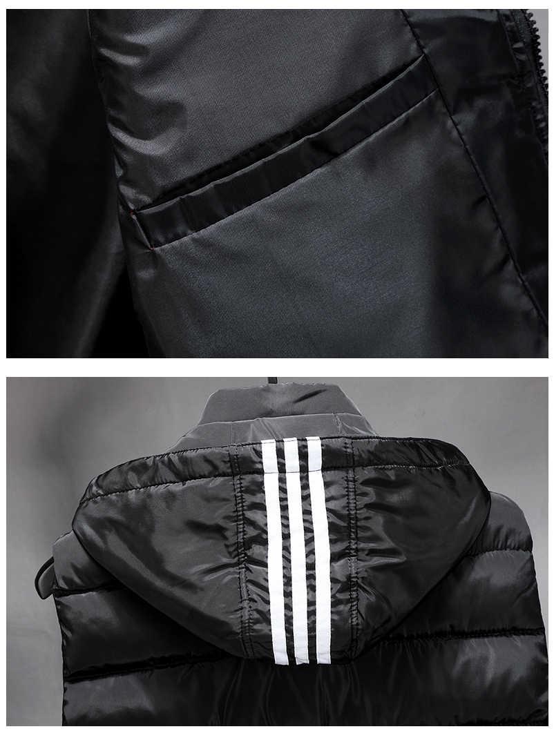 겨울 조끼 플러스 크기 7xl 8xl 9xl 10xl 파카 조끼 양복 조끼 코트 민소매 자켓 따뜻한 파카 자켓 조끼 남자