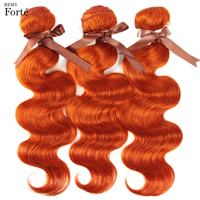 Remy Forte Brazilian Hair Weave Bundles Body Wave Bundles Orange Hair Bundles 100% Remy Red Human Hair Extension 3/4 Bundles