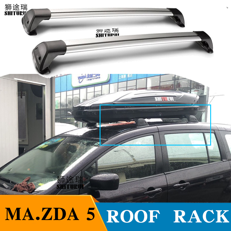 shiturui for mazda 5 mvp biante premacy ultra quiet truck roof bar car special aluminum alloy belt lock