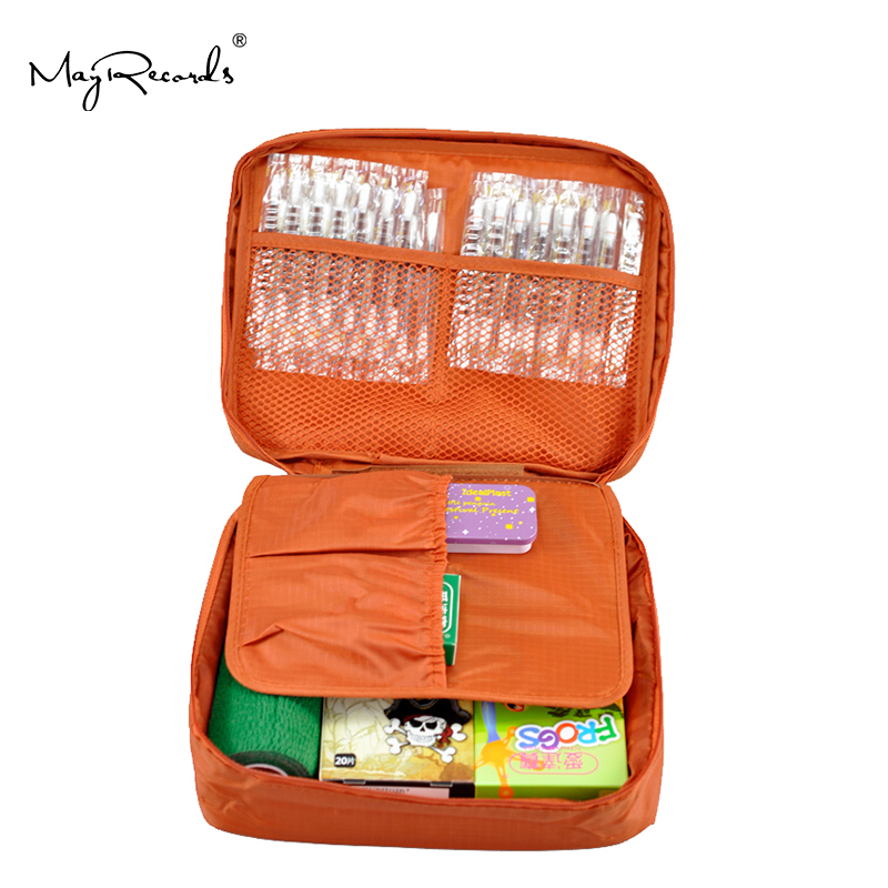 Free Shipping Orange Outdoor Travel First Aid Kit Bag Home Small Medical Box Emergency Survival Kit Treatment Outdoor Camping