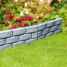 Imitation Grey Brick Courtyard Fence Garden Lawn Edging Plant Border Stone Fence DIY Garden Brick Cement Fence Cement Stone Mold(China)
