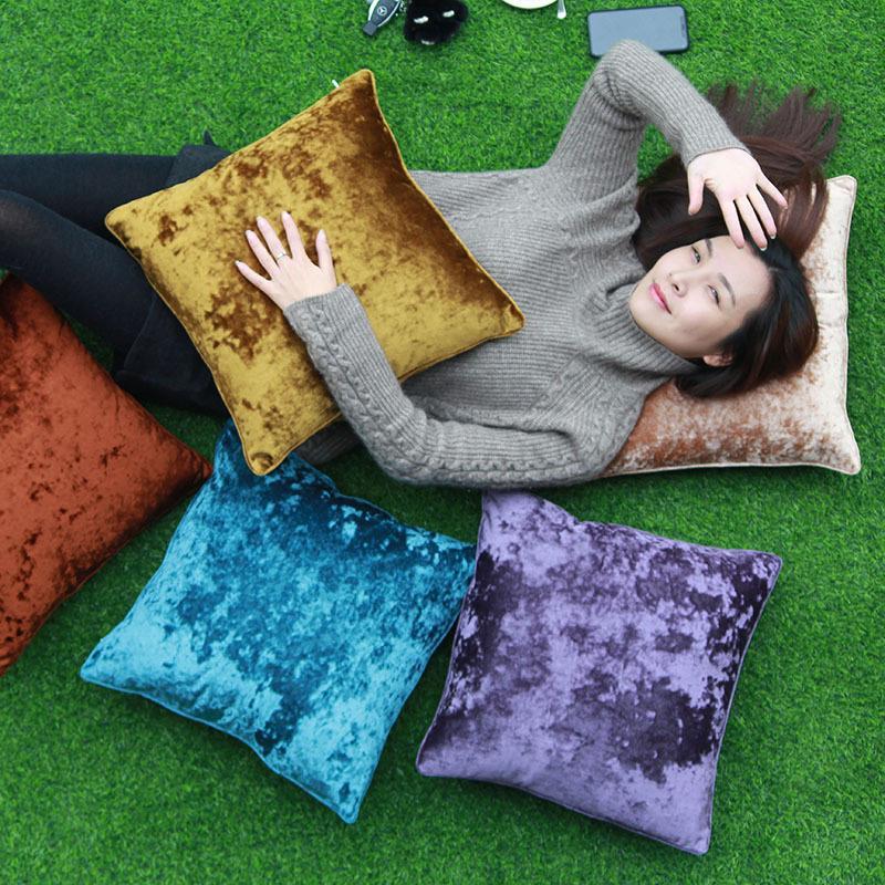 Бархатный Чехол для дивана, декоративные подушки для гостиной 45x45, декоративные подушки Kussenhoes, скандинавский домашний декор