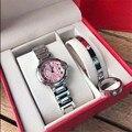 Модные новые женские кварцевые наручные часы из трех частей, женские наручные часы с кольцом, римскими цифрами, Классические кварцевые нару...