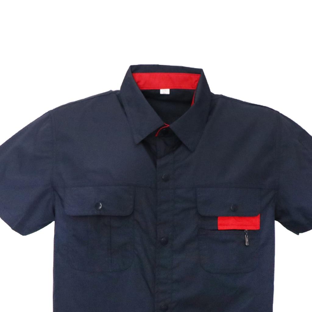 Men Women Short Sleeve Work Uniform Garage Repairman Engineer Working Jacket And Pants Suit