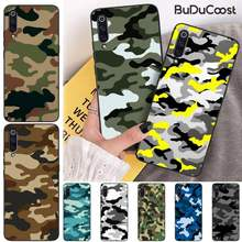 Camuflaje verde militar capa de telefone de borracha macia para xiaomi mi 9 9t cc9 cc9e 8 se pro a2 lite 6x 5 a3 a1 max mix 2 3