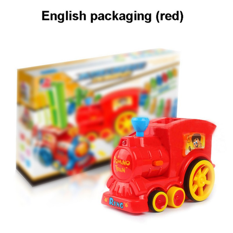 Special Train Electric Domino Car Toys Vehicle Model Magical Automatic Set Up Colorful Plastic Dominoes Toys
