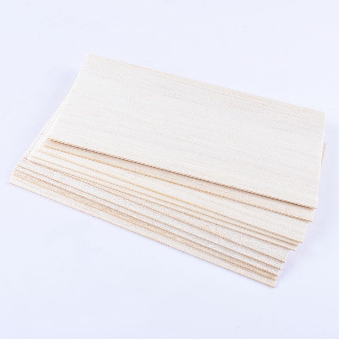 10pcs 100x200x1.5mm Thin Wood Board Panel Plaque For DIY Arts Craft Decor Building Model Materials