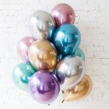 10 шт 12 дюймов блестящий металл жемчужные латексные шары толстые