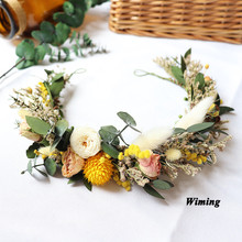 Hair Accessories party wedding festival Decoration headband girl Bridal Hair Wreath Women Flower Headband props цена и фото