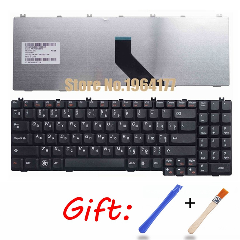 GZEELE Russian Keyboard For Lenovo B560 B550 G550 G550A G550M G550S G555 G555A G555AX RU Laptop Keyboard Replacement