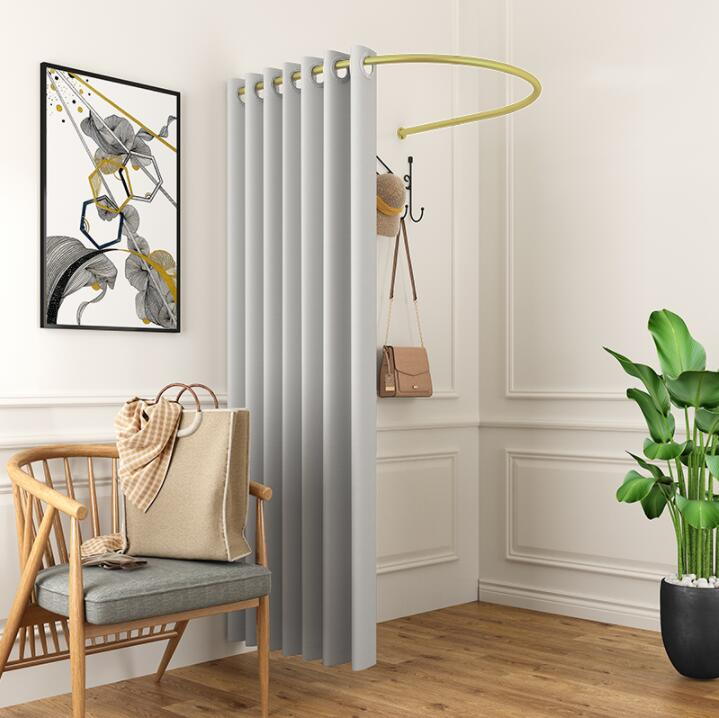 Clothing Store Fitting Room Curtain Changing Room Changing Room U-ring Frame Pole Partition Cloth Curtain Thickening Curtain