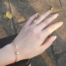 Fashion Open Bangle Trend Fruit-shape Simple Versatile Metal Handmade Jewelry Accessories Gift