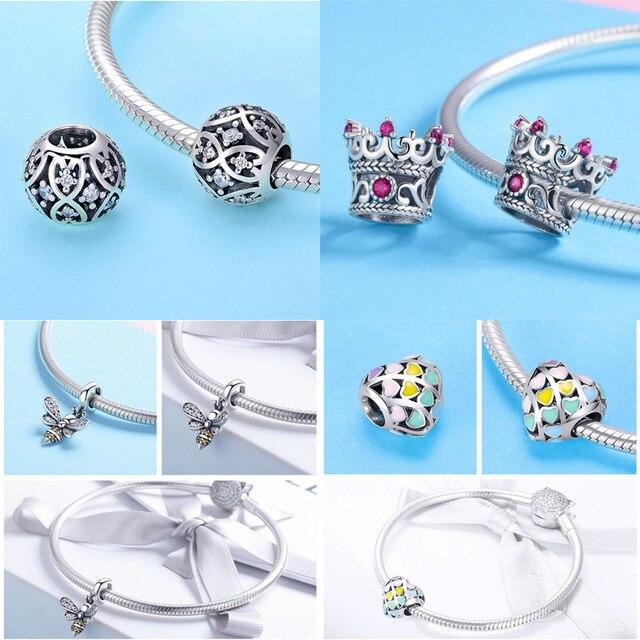 16 style tanie przezroczyste paciorki szklane 925 srebro Murano Charms Fit oryginalne bransoletki i Bangle Pan Lampwork HSZ019
