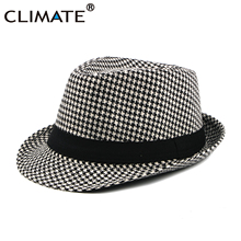 Hat Cap Fedoras-Cap Houndstooth Vintage Man Casual Solid Men CLIMATE Swallow Gird