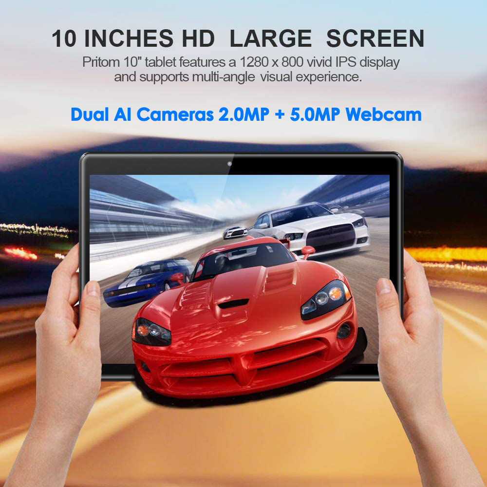 2020 Hot Android 9.0 OS Tablet PC 10 Inch 4G Telefoontje RAM 3GB ROM 32GB/64GB Rom Octa Core SC9863A Wifi + 64 Gb Tf Card Gifts