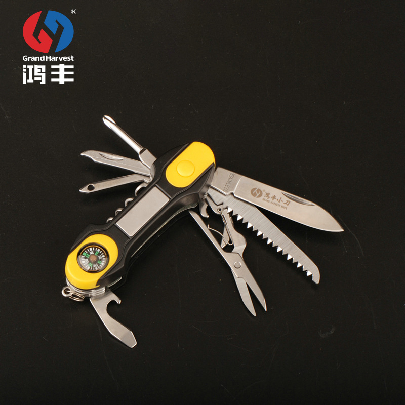 Hilltop Limited Time Promotion Multifunctional Tool Gift Set Multi-functional Outdoor LED Light Swiss Army Knife Folding Knife