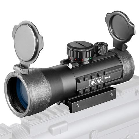 3x44 verde red dot sight scope tatico optica riflescope caber 11 20mm ferroviario rifle escopos