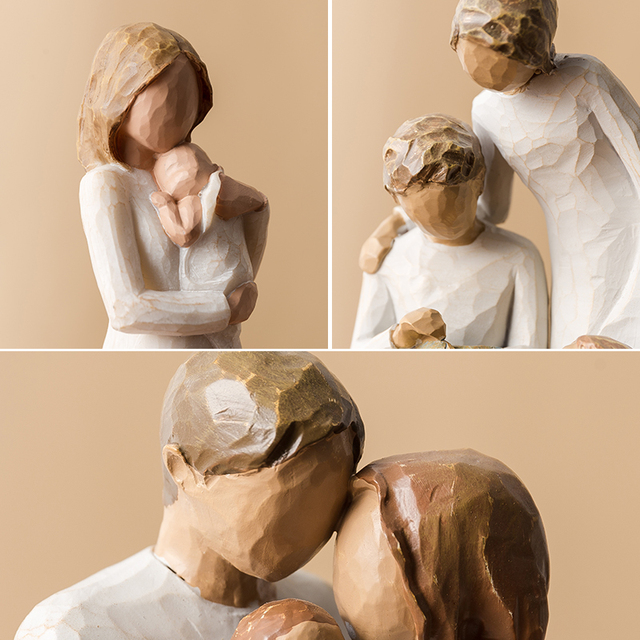 Nordic Love Family Resin Figurines Ornaments  Family Happy Time Mum Dad and Children Home Decoration Accessories For Living Room 5