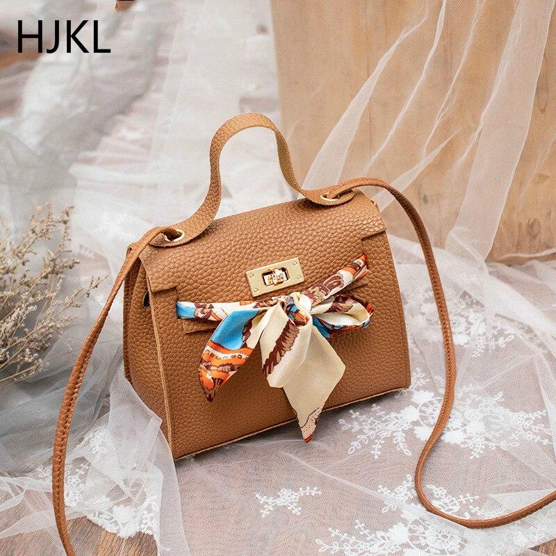 Women's Crossbody Handbag Mini Fashion High Quality PU Leather Luxury Lock Flap Design Female Bow Ribbon Shoulder Bags 2019 New