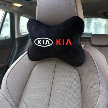 Flanela bawełniana poduszki samochodowe zagłówek zagłówek poduszka do podłożenia akcesoria na klapę dla KiA rio ceed sportage cerato dusza sorento k2 tanie i dobre opinie NYLON