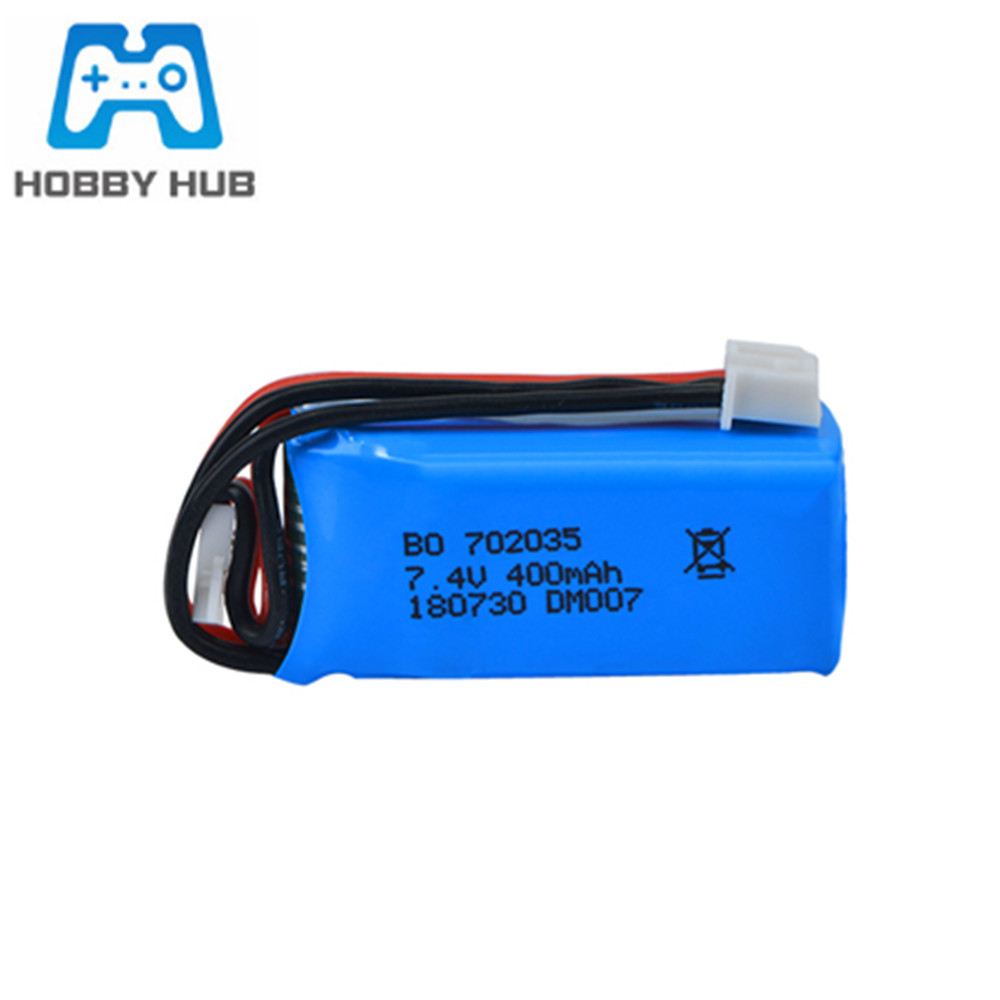 <font><b>7.4V</b></font> <font><b>400mAh</b></font> 702035 <font><b>Lipo</b></font> <font><b>Battery</b></font> For RC DM007 Airplane Quadcopter Drone Helicopter Toy Spare Parts 2s <font><b>7.4V</b></font> Lithium <font><b>Battery</b></font> 1pcs image
