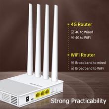 WIFISKY WS-R642 300M LAN/WAN 4G SIM Card 2.4G+4G 4 Antennas LTE WiFi Router Networking