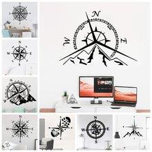 Креативные горы приключений и Наклейка на стену в виде компаса