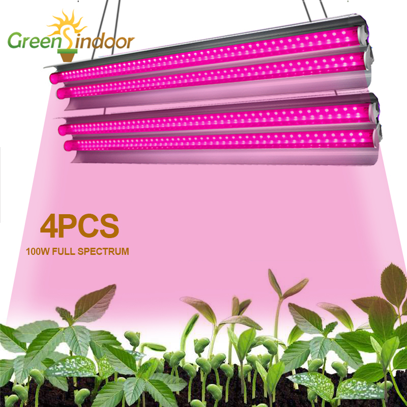 4pcs Growing Lamps LED Grow Light Full Spectrum Indoor Strips Phyto Lamp Plant Lighting Fitolampy Flowers Seedling Cultivation