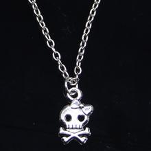 Nowy modny naszyjnik 16x9mm szkielet czaszka wisiorki krótki długi kobiety mężczyźni Colar prezent biżuteria Choker tanie tanio Qingmao Ze stopu cynku Łańcuszki naszyjniki TRENDY Link łańcucha Metal mgbnl-0234