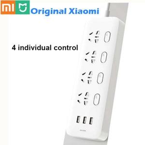 Image 1 - Удлинитель Xiaomi Mijia с 4 розетками, 3 USB портами, 5 В, 100% А
