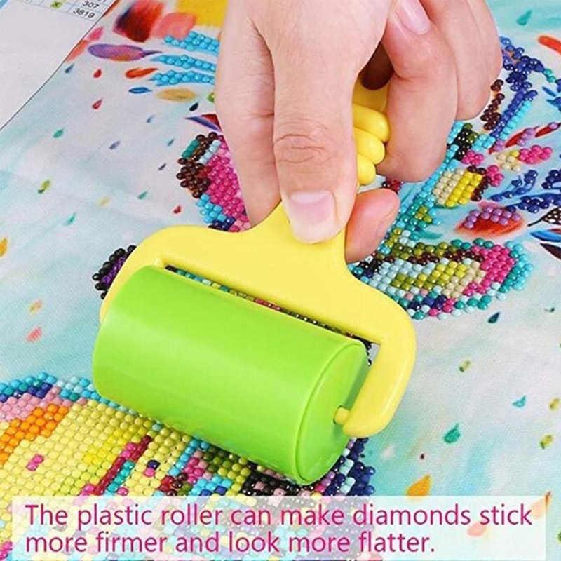 5D สแควร์/รอบเพชรจิตรกรรมเครื่องมือ Roller DIY เพชรภาพวาดอุปกรณ์เสริมสำหรับภาพวาดเพชรติดแน่น