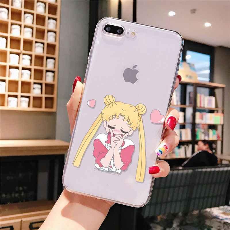 Sailor Moon TPU telefon skrzynki pokrywa Shell dla iphone 11 12 Pro XS MAX XR 8 7 6 6S Plus X 5 5S SE