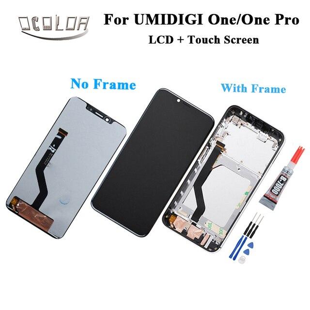 Ocolor Für UMI Umidigi Einem LCD Display und Touch Screen Mit Rahmen Für UMI Umidigi One Pro LCD Touch Handy zubehör + Werkzeuge