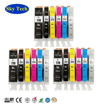Compatible Ink Cartridges For Canon PGI770 CLI771 PGI-770 CLI-771 For Canon Pixma MG5770/MG6870/MG7770/TS5070/TS6070/TS8070 etc image