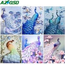 AZQSD Diamond Painting Peacock Animal 5D DIY Diamond Embroidery Mosaic Handmade Home Decor Gift Cross Stitch Kits Needlework цена 2017
