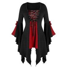 Women Halloween Gothic Criss Cross Patchwork Sequined Insert Butterfly Sleeve T-shirt Irregular Hem Witch cosplay Top criss cross back slogan hem tee