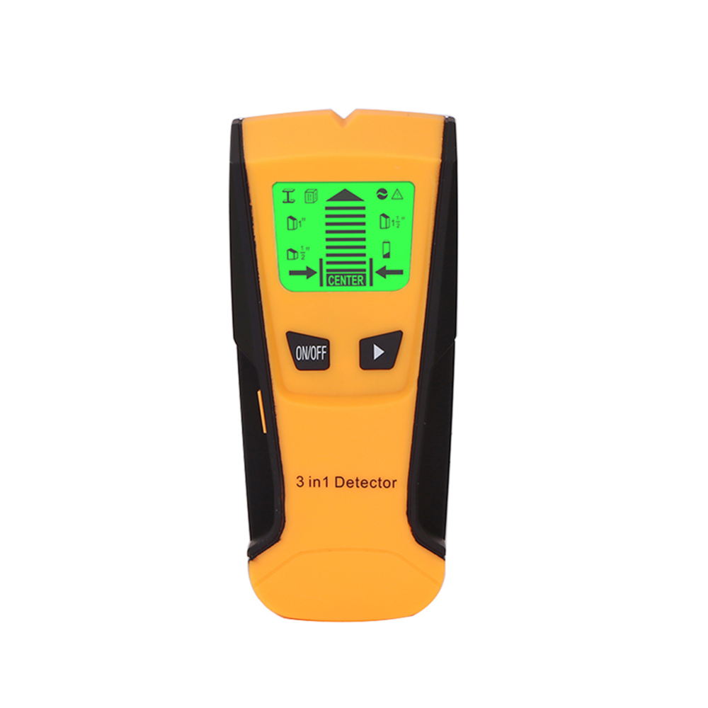3 In 1 Electric Stud Finder Wood Metal Detector Wiring AC live Wire Wall Scanner Detector Box Finder Tape Measures     - title=