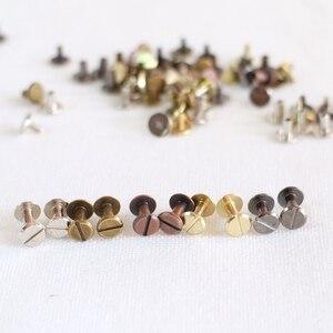 Image 3 - 100pcs Colorful Metal Screws for Spiral Binder Loose Leaf  Clip 5Colors Silver/Bronze/Red bronze/Grey/Golden 4mm/7mm/10mm sizes